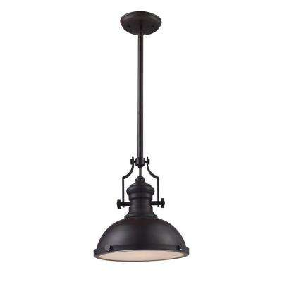 Chadwick 1-Light Oiled ...  sc 1 st  The Home Depot & Bronze - Pendant Lights - Lighting - The Home Depot azcodes.com