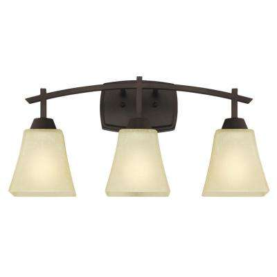 Midori 3-Light Oil Rubbed Bronze Wall Mount Bath Light
