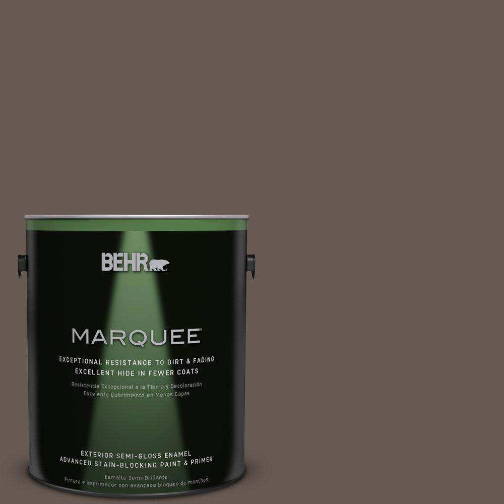 BEHR MARQUEE 1-gal. #N200-7 Underground Semi-Gloss Enamel Exterior Paint, Browns/Tans