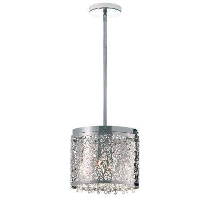 Siley 4-Light 10 in. Polished Chrome Chandelier