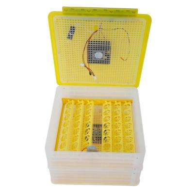 96-Egg Practical Fully Automatic Poultry Incubator (110V) US Standard Yellow & Transparent