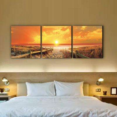 "24 in. x 72 in. ""Sunrise Meadow"" Printed Wall Art"