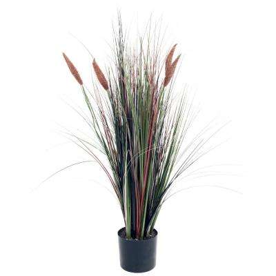 4 ft. Potted Artificial Cattail Grass