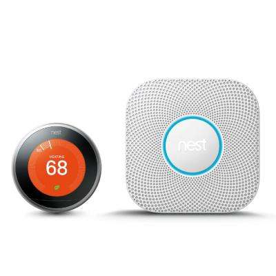 Learning Thermostat and Protect Battery Smoke and Carbon Monoxide Alarm