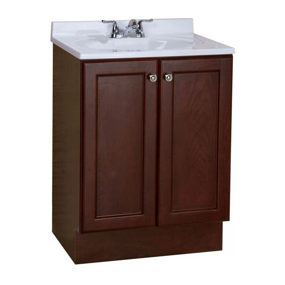 Glacier Bay Melborn 24.5 In. W Bath Vanity In Chestnut