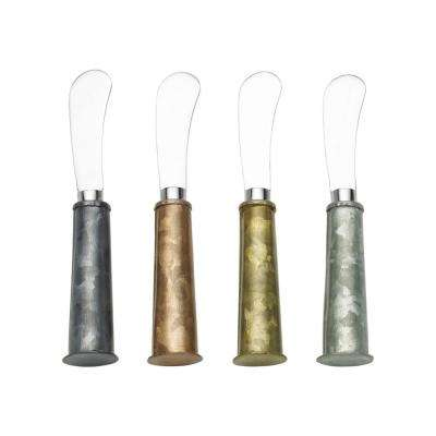 Galvanized Multi Color Spreaders (Set of 4)