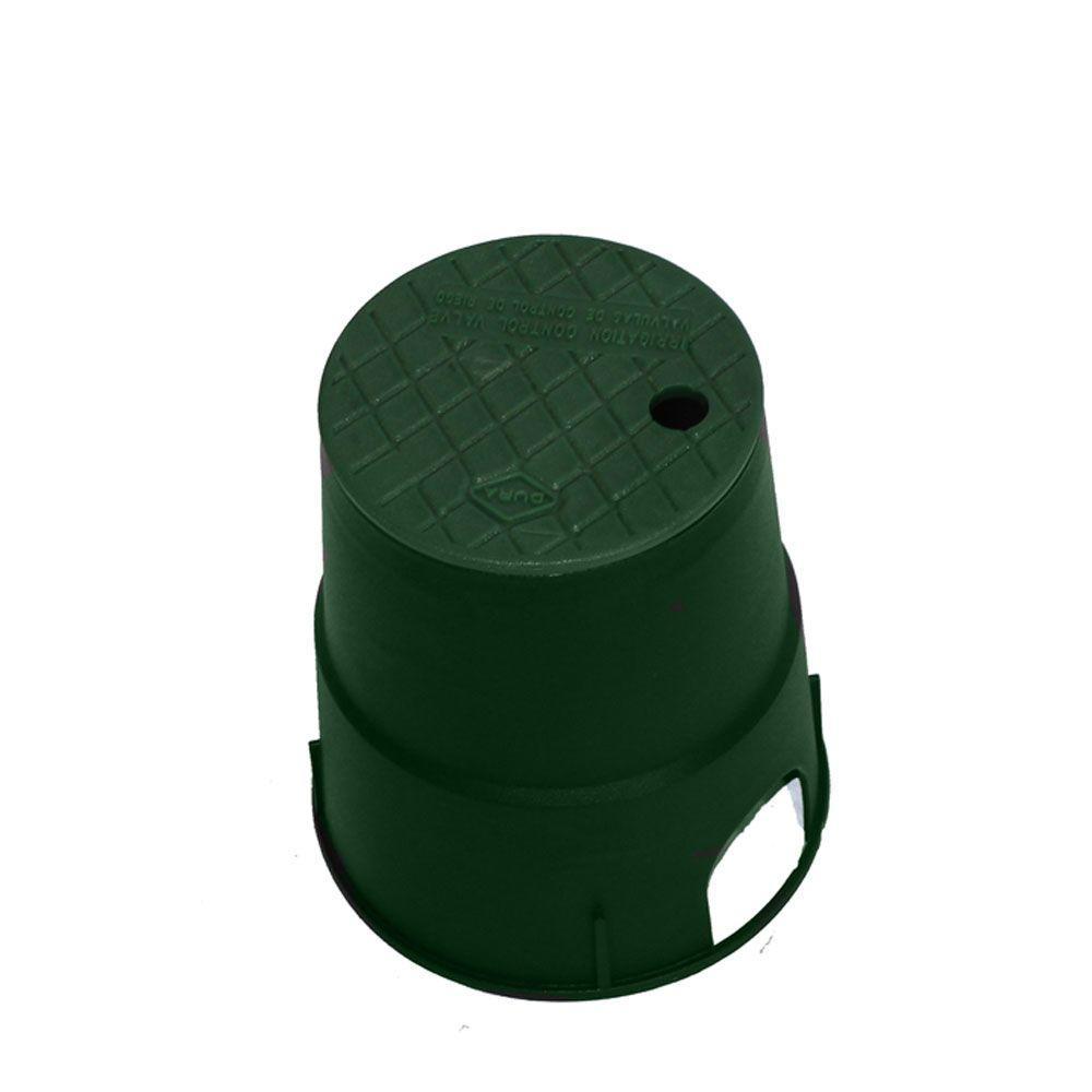 DURA 6 in. Round Valve Box in Green Body Green Lid