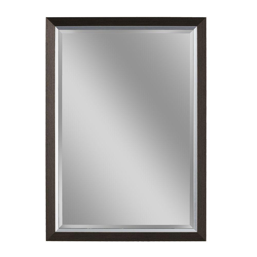 26 in. W x 32 in. H Avalon Mirror in Espresso