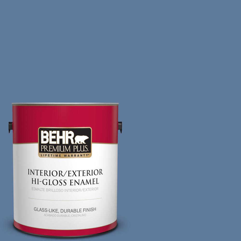 1 gal. #PPU14-02 Glass Sapphire Hi-Gloss Enamel Interior/Exterior Paint