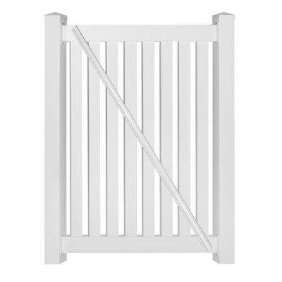 Crestview 4 ft. W x 4 ft. H White Vinyl Pool Fence Gate