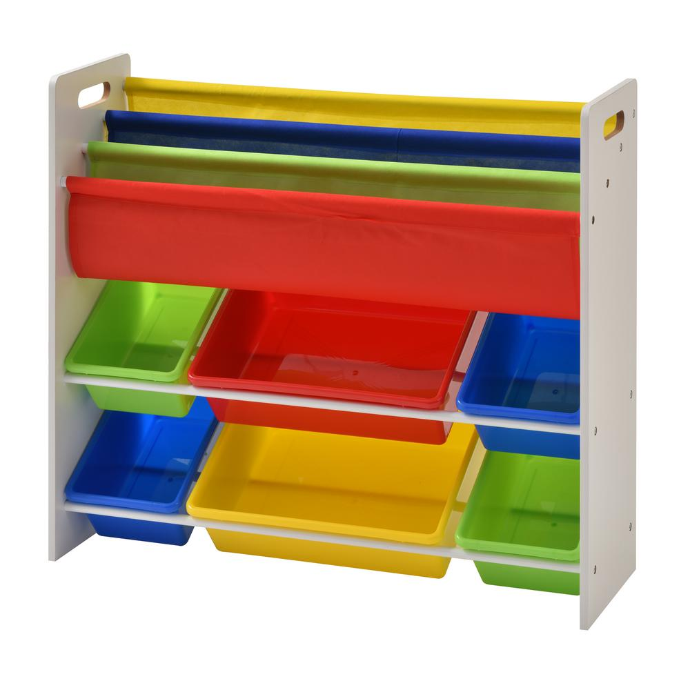 Book And Toy Storage Organizer With 6