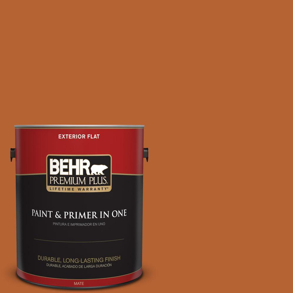 250d 7 Caramelized Orange Flat Exterior Paint And Primer In One