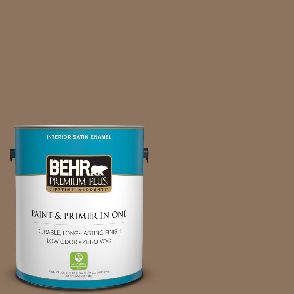 1-gal. #700D-6 Belgian Sweet Zero VOC Satin Enamel Interior Paint