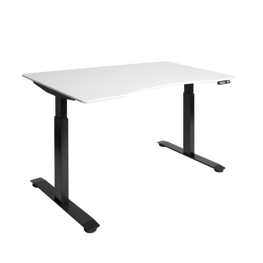 Seville Clics Airlift Black Base With White Ergo Table Top S2 Electric Height Adjule Standing