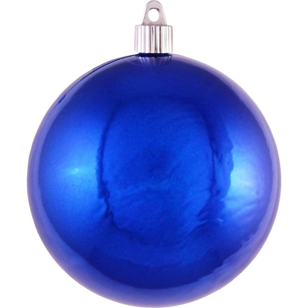 Christmas by krebs 4 3 4 in azure blue shatterproof ball List of christmas ornaments