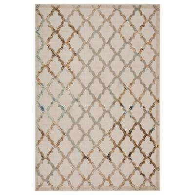 Tranquility Fungi / Turkuaz 8 ft. x 9 ft. Indoor Area Rug