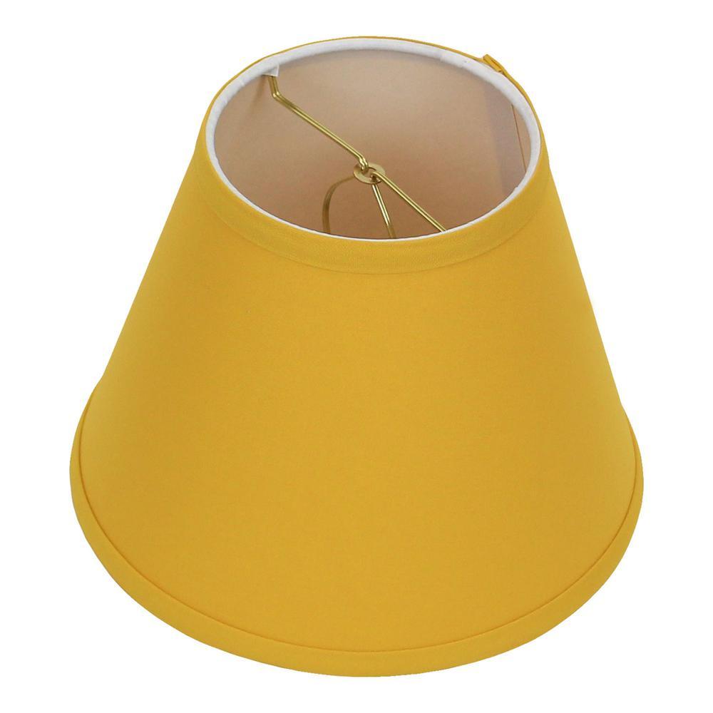 5 in. Top Diameter x 9 in. Bottom Diameter x 7 in. Slant Linen Curry Empire Lamp Shade