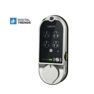 Vision Satin Nickel Deadbolt with Video Doorbell Smart Lock
