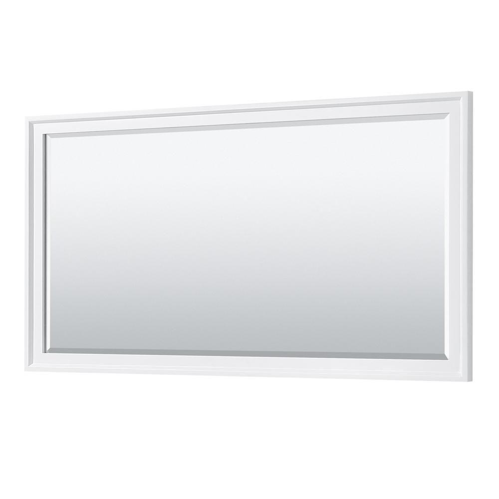 Wyndham Collection Tamara 70 in. W x 33 in. H Framed Wall Mirror in White