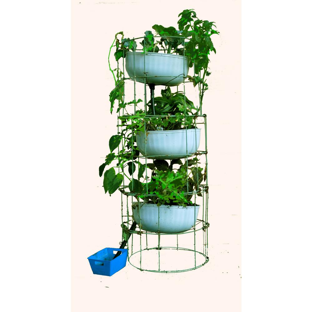 Grow Anything Anywhere Tower 12 in. x 55 in. Antique Green