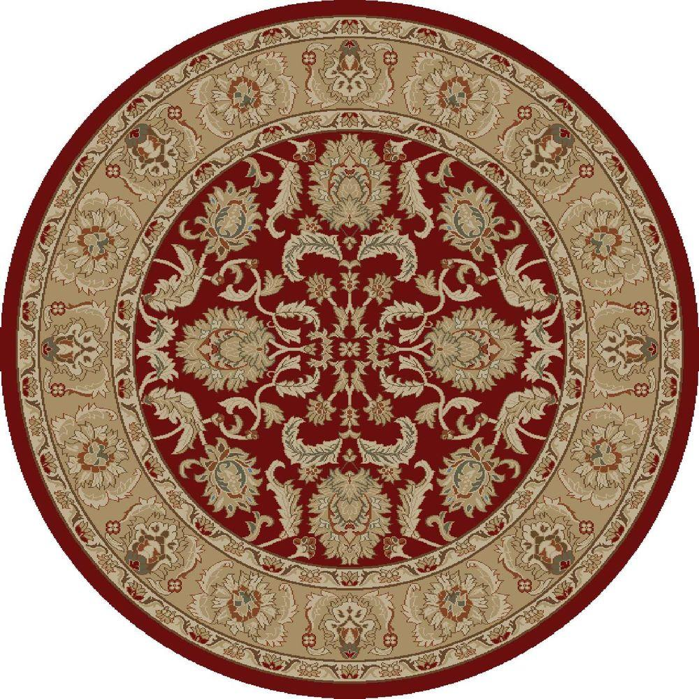 Ankara Oushak Red 5 ft. 3 in. Round Area Rug