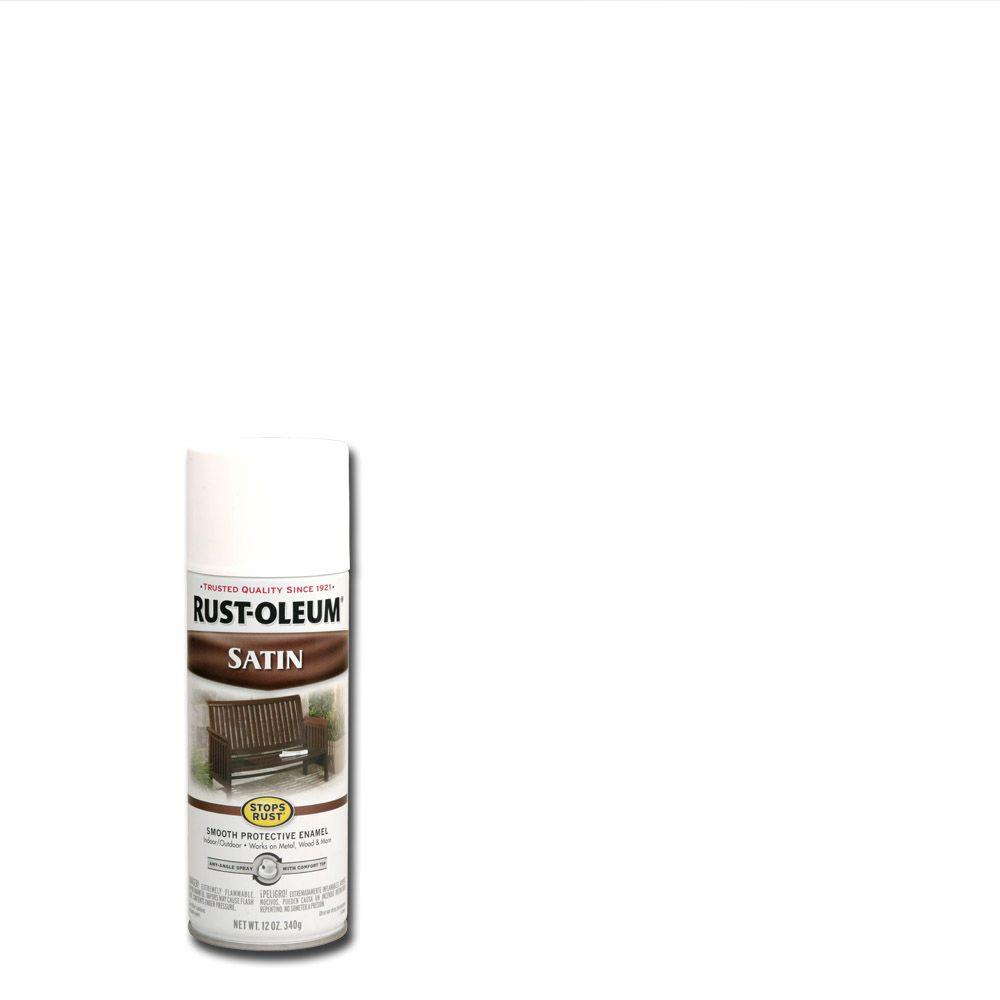 Rust Oleum Stops Rust 12 Oz Protective Enamel Satin White Spray