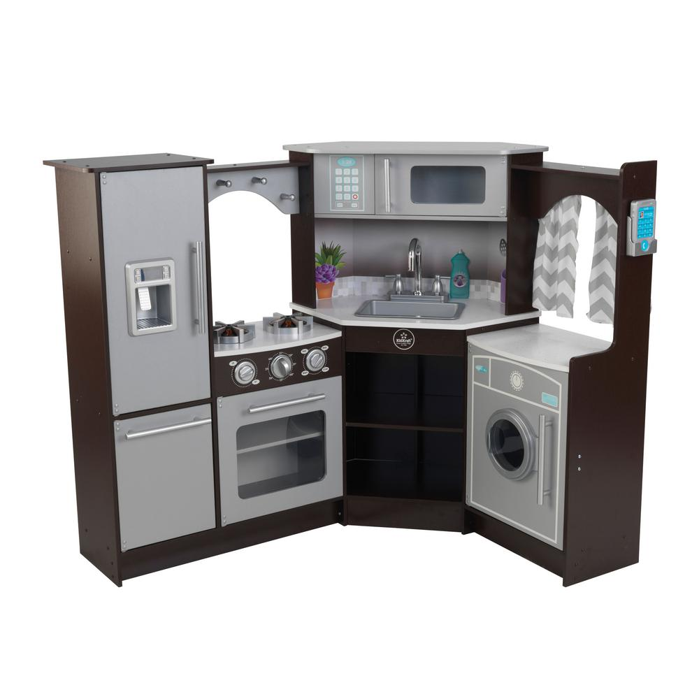 KidKraft Ultimate Espresso Corner Play Kitchen