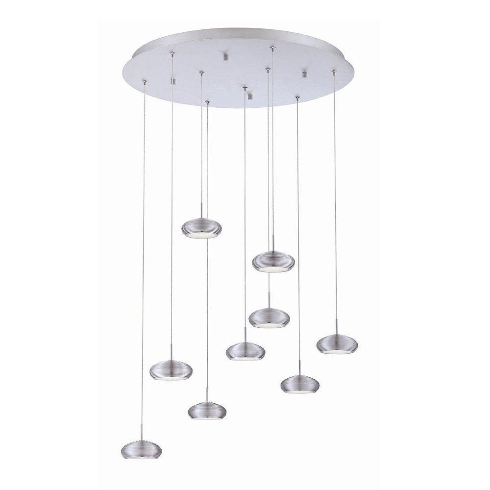 null Venti Collection 9-Light Aluminum Round Pendant