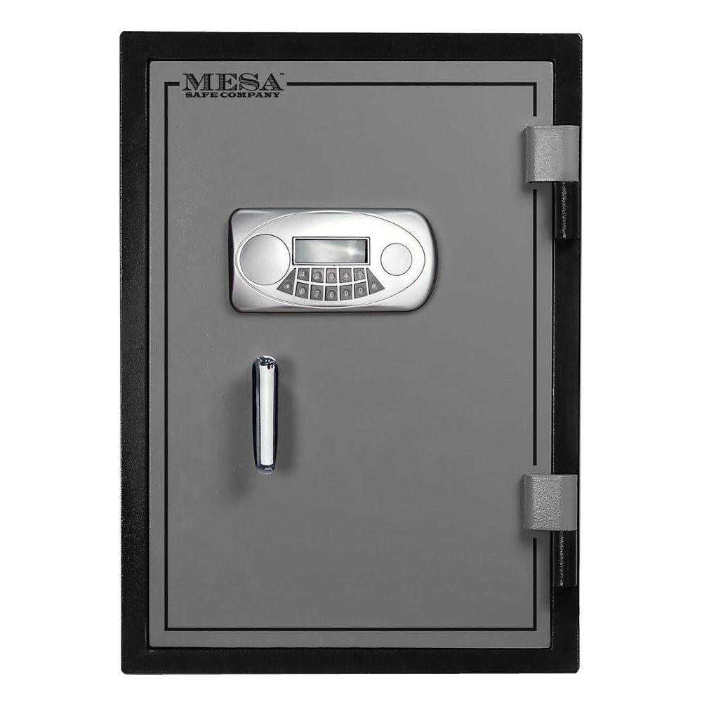 MESA 1.7 cu. ft. U.L. Classified All Steel Fire Safe with Electronic Lock in 2-Tone, Black and Grey