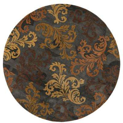 Symphony Charcoal 8 ft. x 8 ft. Round Area Rug