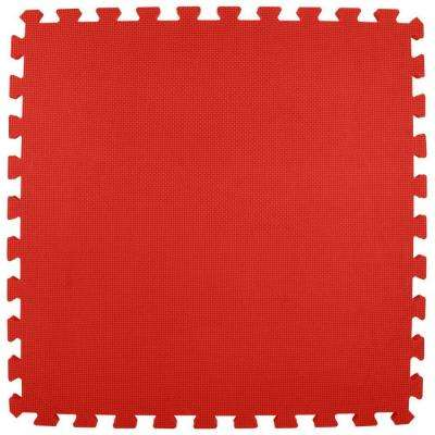 Premium Red 24 in. x 24 in. x 5/8 in. Foam Interlocking Floor Mat (Case of 25)