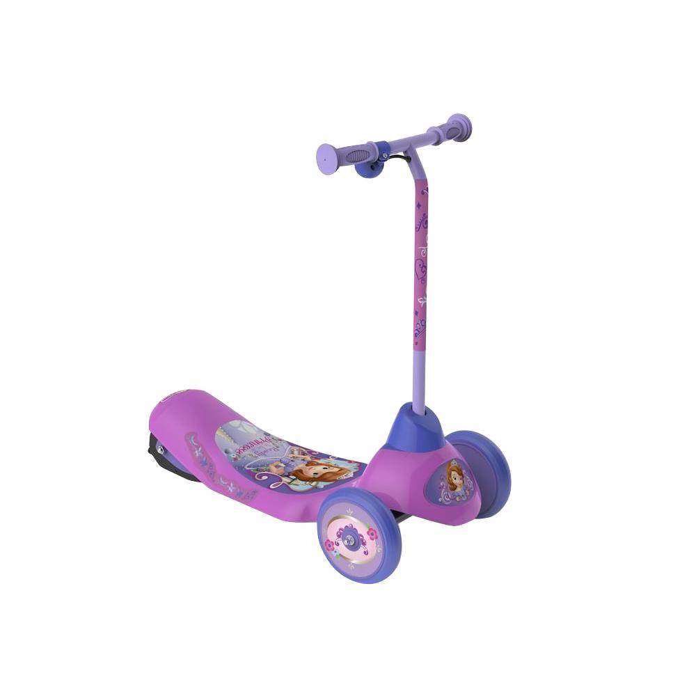 Pulse Performance Products Disney Sofia First Safe Start 3-Wheel Electric Scooter