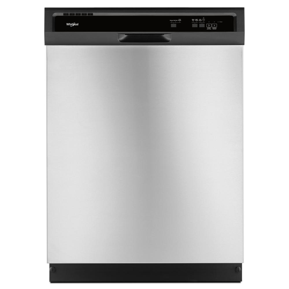 Whirlpool Front Control Built In Tall Tub Dishwasher Stainless Steel With 1 Hour