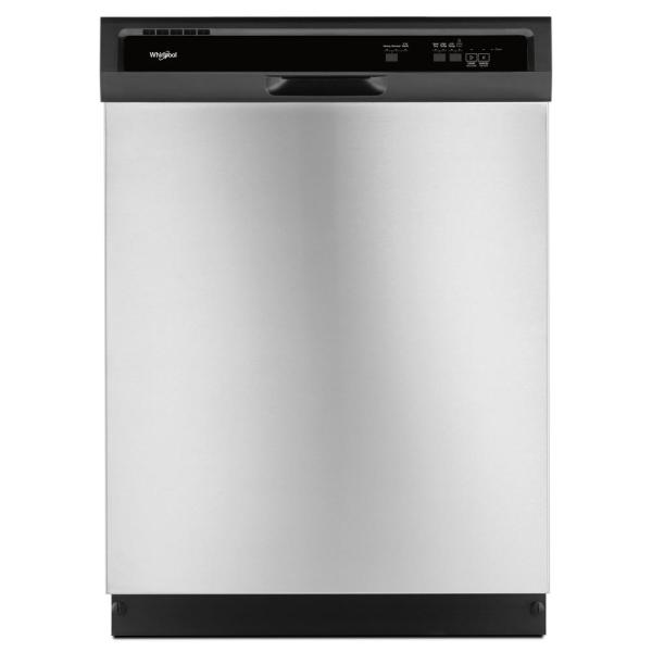 Front Control Built-In Tall Tub Dishwasher in Stainless Steel with 1-Hour Wash Cycle, 55 dBA