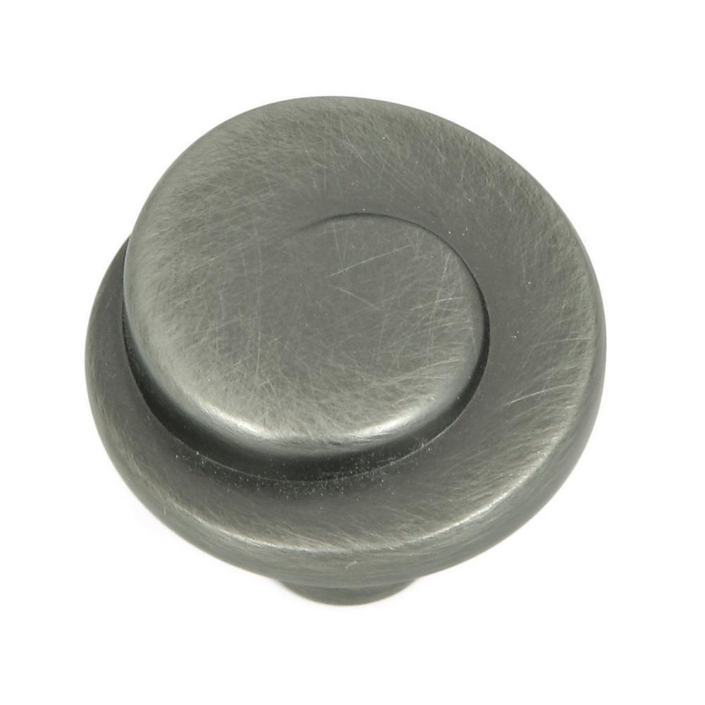 Hawthorne 1-1/8 in. Weathered Nickel Round Spiral Cabinet Knob