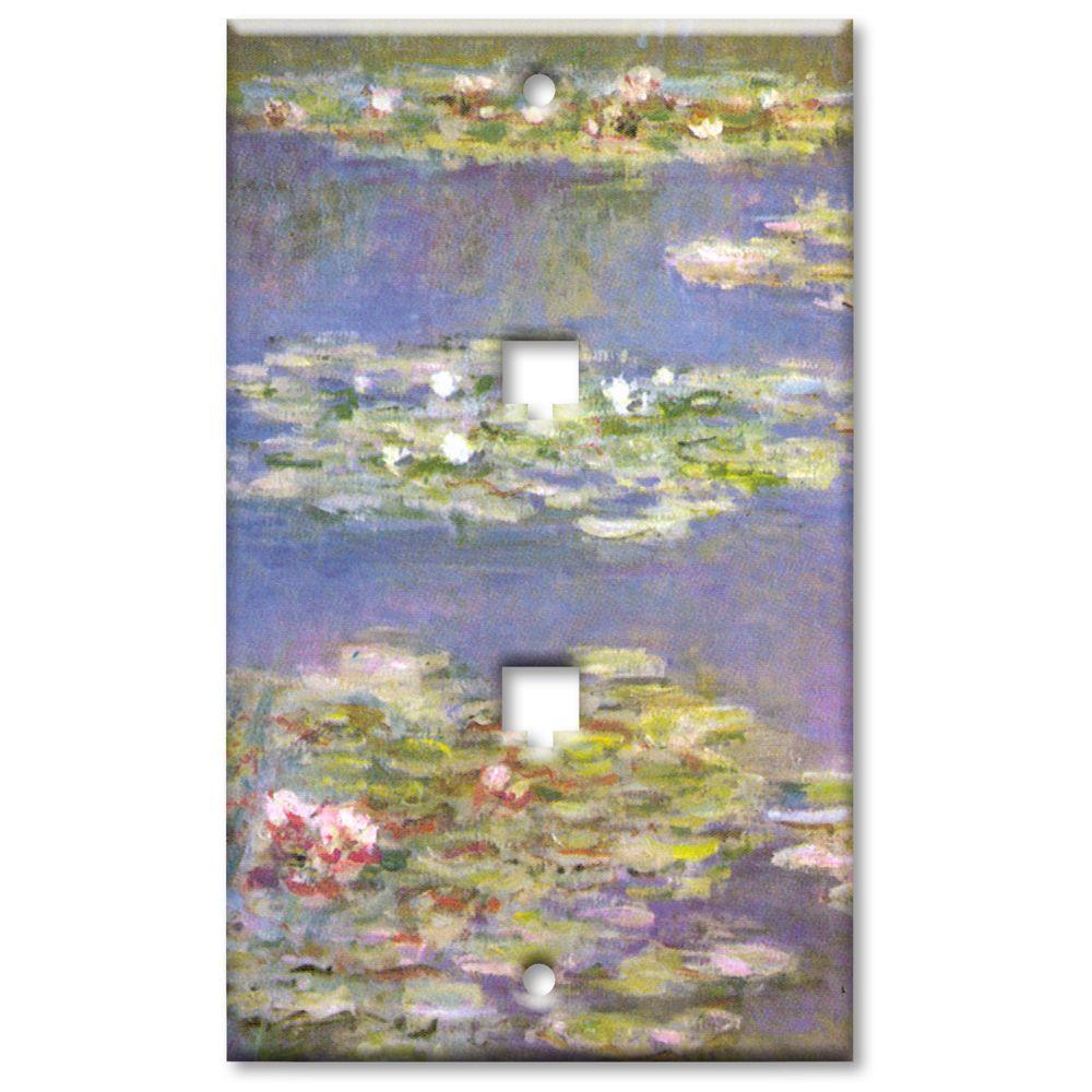 Art Plates Monet Water Lilies 2 Phone Jack Wall Plate