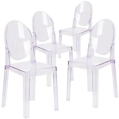Transparent Crystal Ghost Chairs (Set of 4)