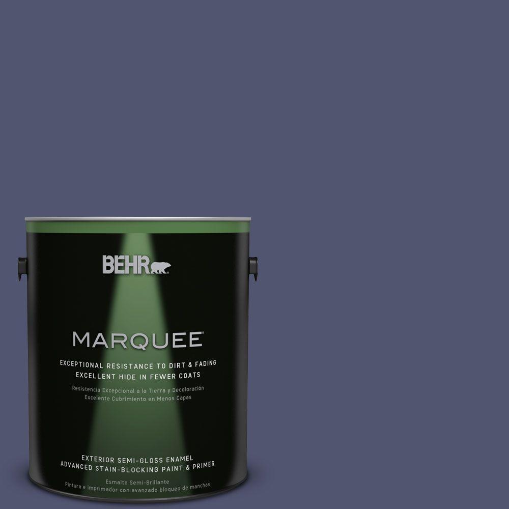 1-gal. #S540-7 Bossa Nova Semi-Gloss Enamel Exterior Paint