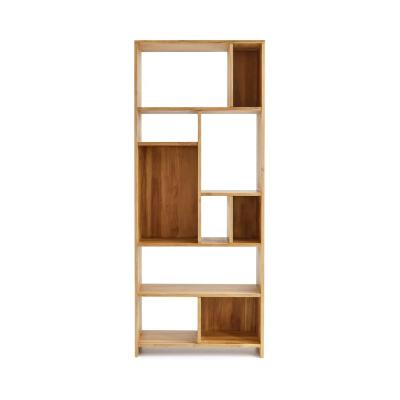 Bergamo Natural Shelving Unit with Solid Teak Wood Construction