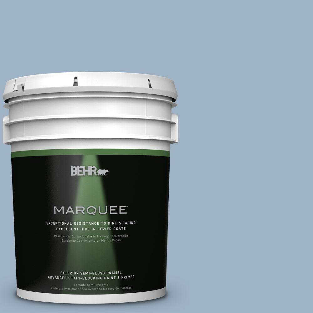 BEHR MARQUEE 5-gal. #S520-3 Perfect Landing Semi-Gloss Enamel Exterior Paint