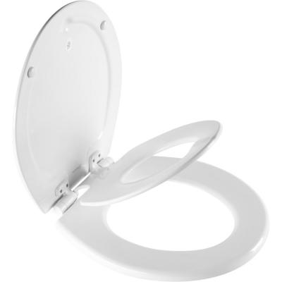 NextStep2 Children's Potty Training Round Closed Front Toilet Seat in White