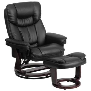 Awesome Flash Furniture Contemporary Black Leather Recliner And Pabps2019 Chair Design Images Pabps2019Com