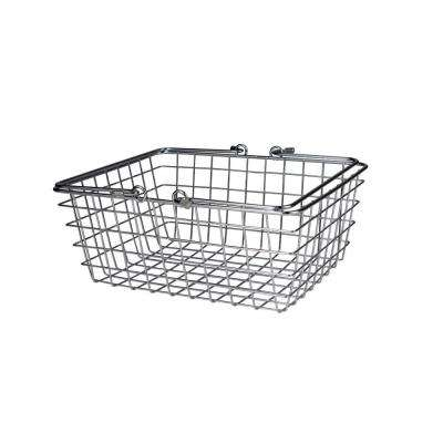 11.125 in. W x 8.75 in. D x 4.625 in. H Medium Wire Basket in Chrome