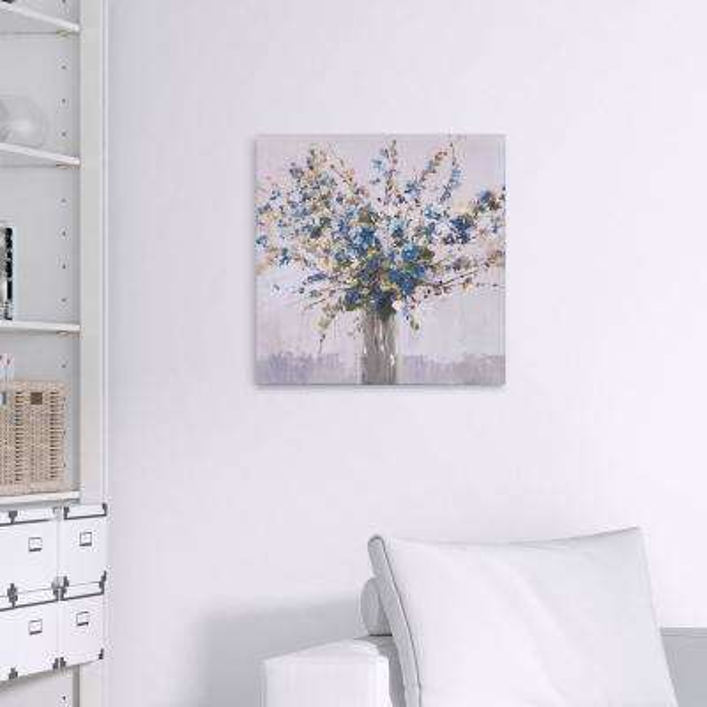 Blue Bouquet Floral Canvas Wall Art