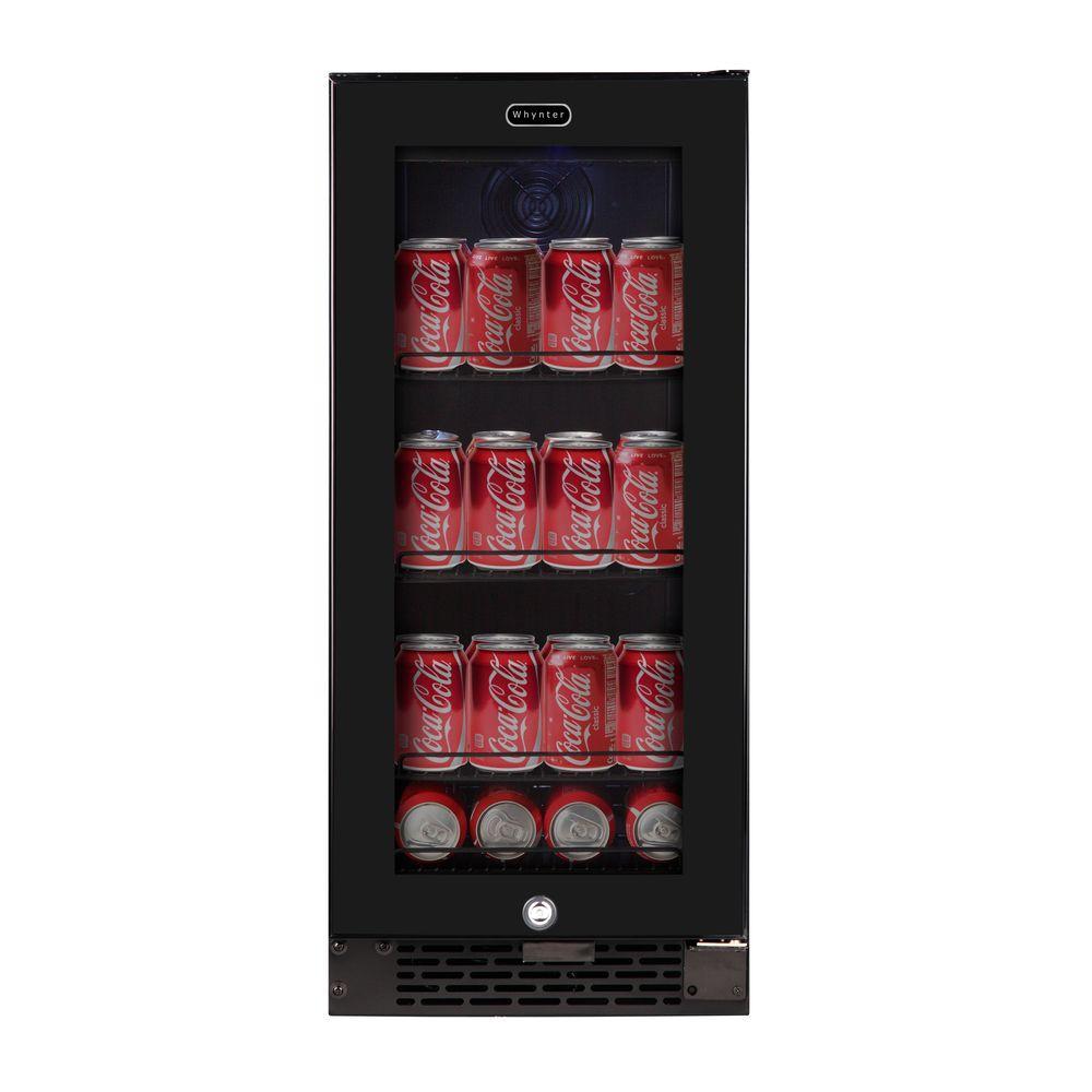 Whynter Built-In Black Glass 80-Can 12 oz. / 33-Bottle Ca...