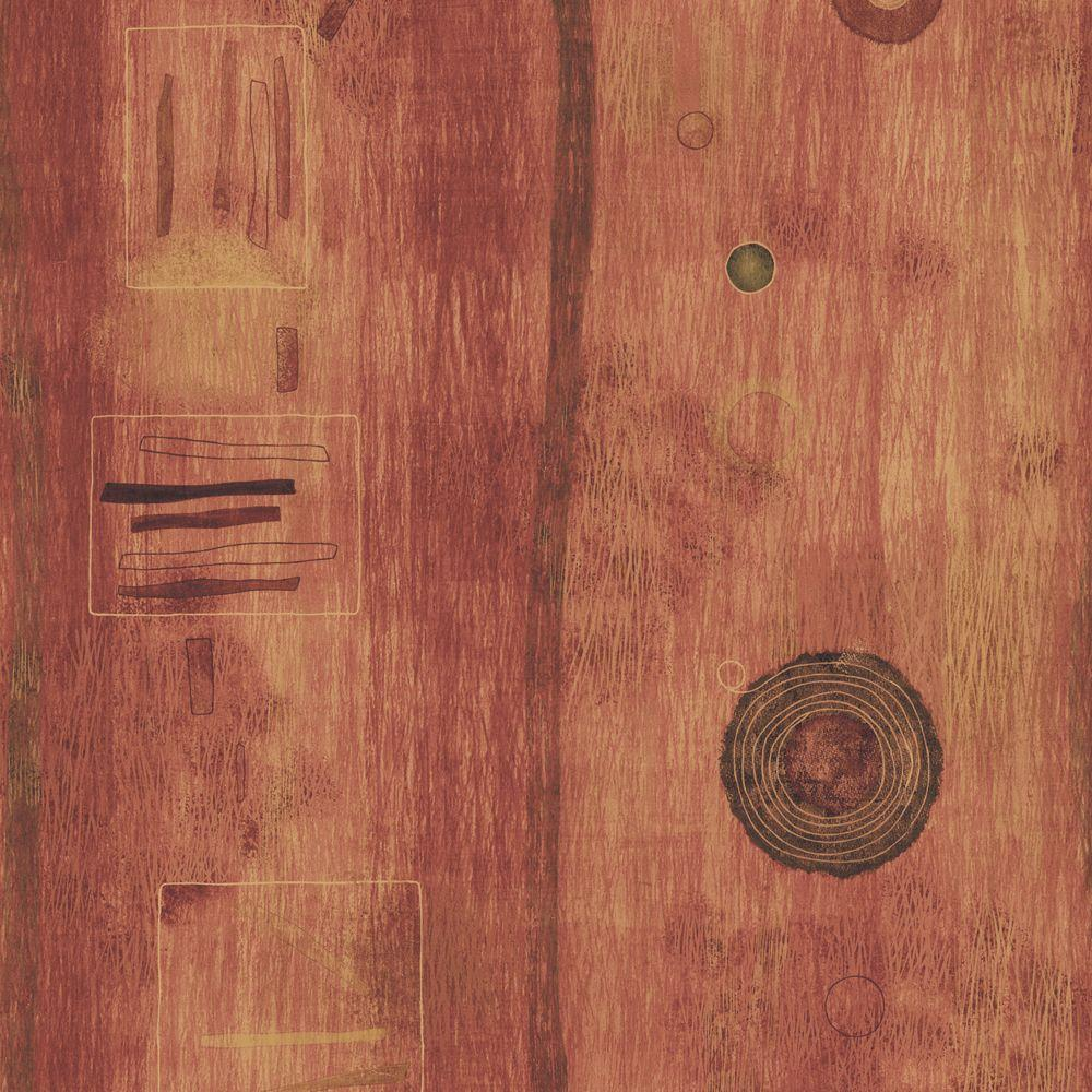 The Wallpaper Company 56 sq. ft. Earth Tone Abstract Shapes Wallpaper