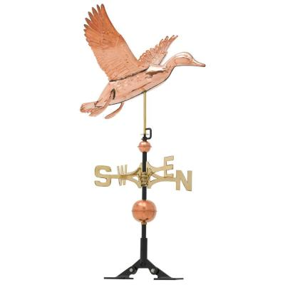 48 in. Polished Duck Copper Weathervane