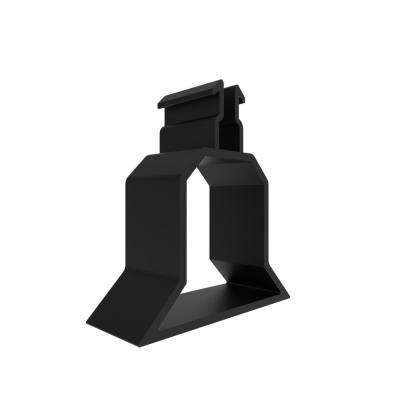 1.33 in. x 1.41 in. x 0.5 in. Matte Black Vinyl Panel Spacer Block