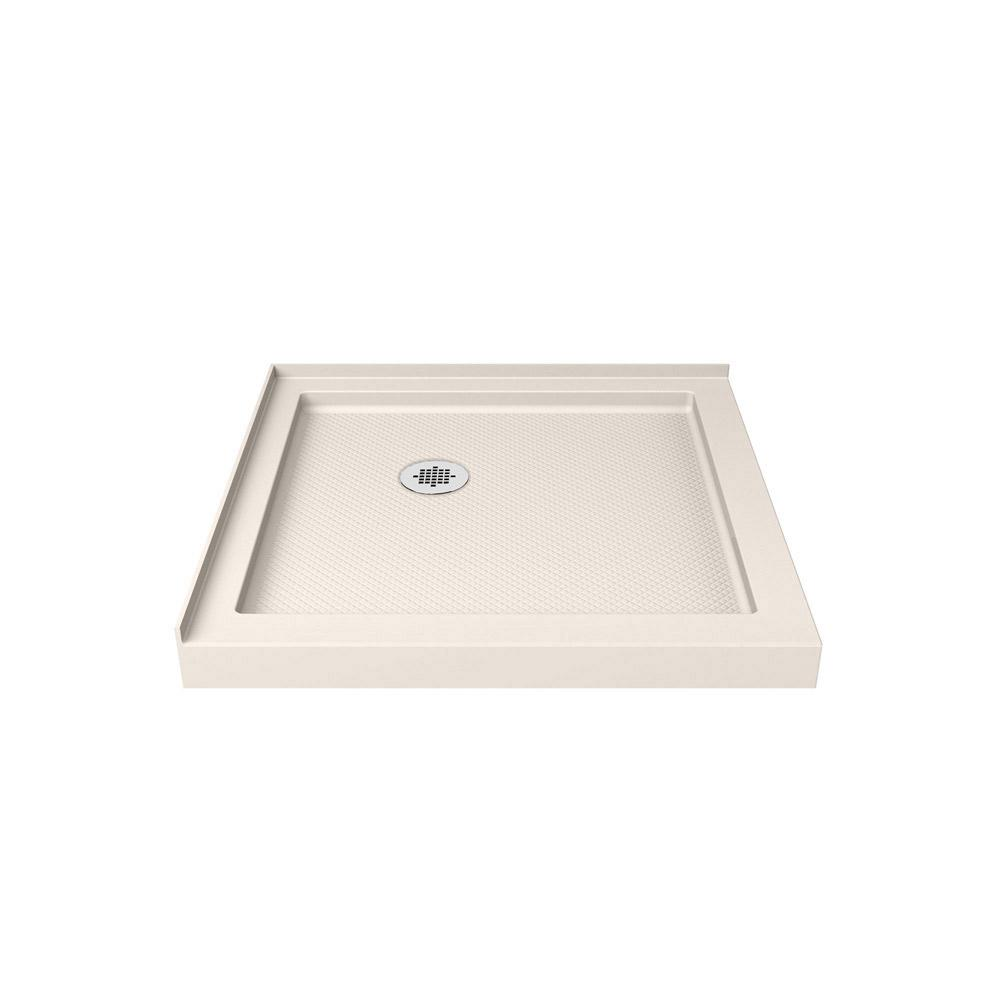 Threshold Shower Base in White SlimLine 32 in Double Stain Resistant x 32 in