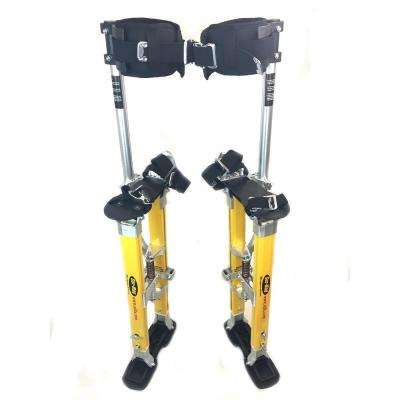 SurPro 18 in. to 30 in. Adjustable Height Single Support Legs Magnesium Drywall Stilts